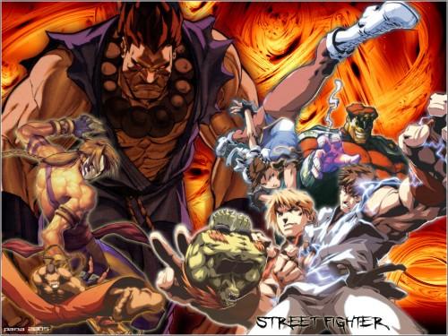 Capcom, Street Fighter, M. Bison, Ryu, Vega Wallpaper