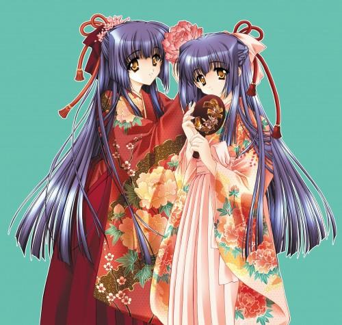 Carnelian, Kao no nai Tsuki Illust Collection CG, Kao no nai Tsuki, Mizuna Kuraki, Suzuna Kuraki