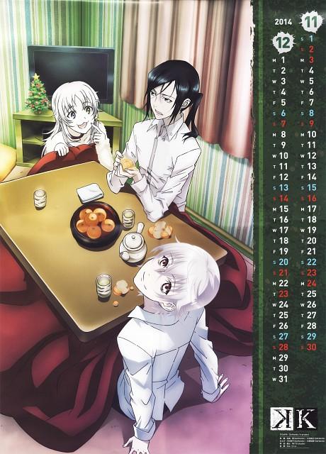GoHands, K Project, K 2014 Calendar, Yashiro Isana, Kuroh Yatogami