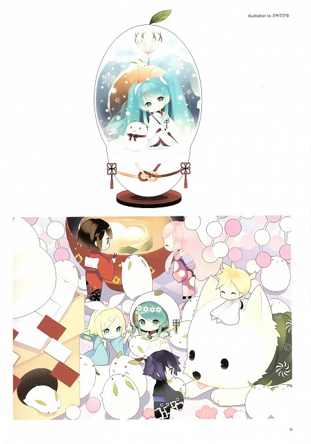 Putidevil, Snow Miku 5th Anniversary Memorial Book, Vocaloid, Len Kagamine, Rin Kagamine