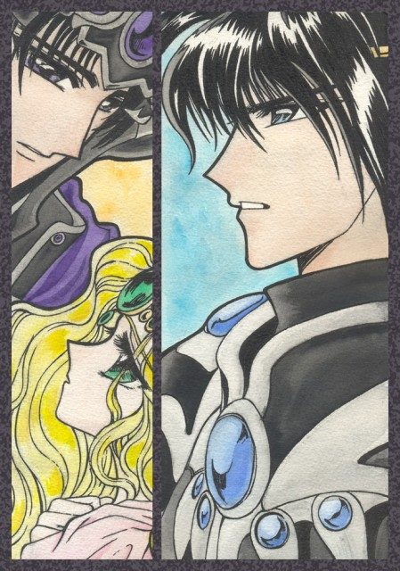 CLAMP, Magic Knight Rayearth, Emeraude, Lantis (Magic Knight Rayearth), Zagato