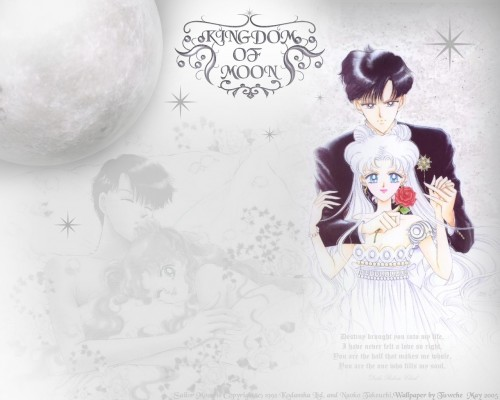 Naoko Takeuchi, Bishoujo Senshi Sailor Moon, BSSM Original Picture Collection Vol. IV, Princess Serenity, Prince Endymion Wallpaper