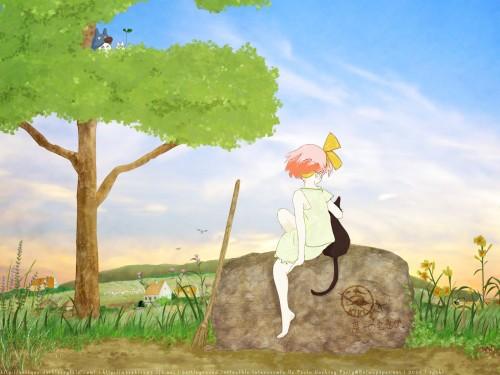 Studio Ghibli, My Neighbor Totoro, Kiki's Delivery Service, Jiji (Kiki's Delivery Service), Kiki Okino Wallpaper