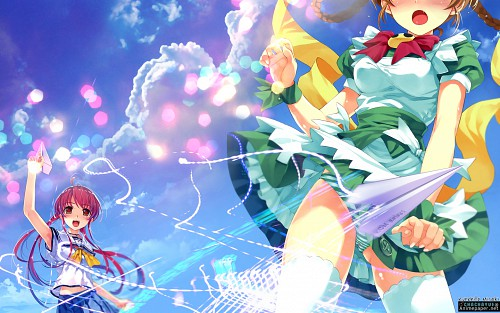 Kurehito Misaki, Abhar, Smile Cubic!, Deep Blue Sky & Pure White Wings, Tomoka Miyamae Wallpaper