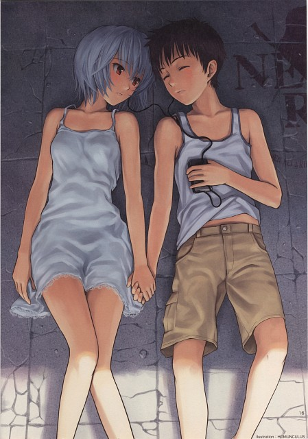 Homunculus (Mangaka), Neon Genesis Evangelion, Tsubasa wo Kudasai (Artbook), Rei Ayanami, Shinji Ikari