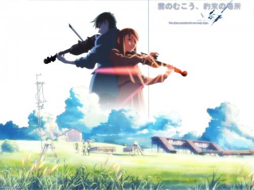 Makoto Shinkai, The Place Promised in Our Early Days, Sayuri Sawatari, Hiroki Fujisawa Wallpaper