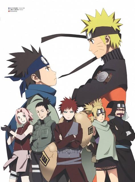 Naruto, The Art of Tetsuya Nishio: Full Spectrum, Shikamaru Nara, Kankuro, Naruto Uzumaki