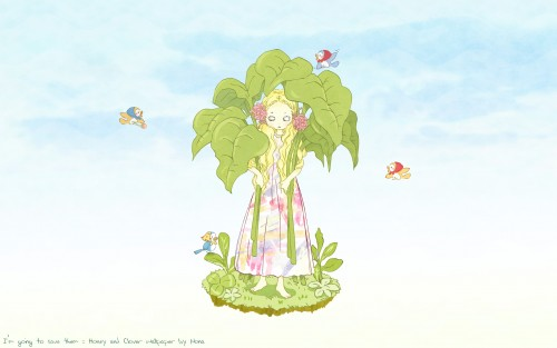 Chika Umino, J.C. Staff, Honey and Clover, Hagumi Hanamoto Wallpaper