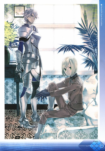 TYPE-MOON, Fate/Extra Visual Fan Book, Fate/EXTRA, Gawain, Leonardo Bistario Harwey