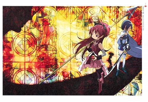 Ume Aoki, Shaft (Studio), Puella Magi Madoka Magica, Sayaka Miki, Kyoko Sakura
