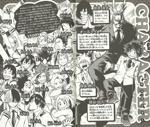 Kouhei Horikoshi, Boku no Hero Academia, Shouto Todoroki, Kyouka Jirou, Denki Kaminari