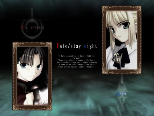 TYPE-MOON, Fate/stay night, Saber, Rin Tohsaka Wallpaper
