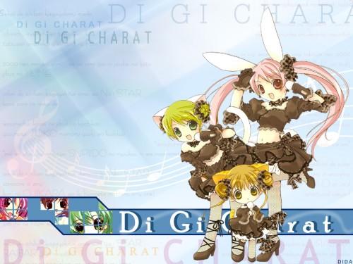 Koge Donbo, Di Gi Charat, Rabi en Rose, Puchiko, Dejiko Wallpaper