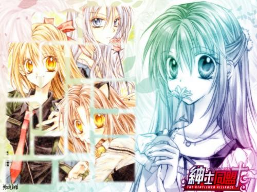 Arina Tanemura, Shinshi Doumei Cross, Yoshitaka Ichinomiya, Haine Otomiya, Ushio Amamiya Wallpaper
