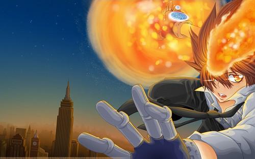 Akira Amano, Artland, Katekyo Hitman Reborn!, Tsunayoshi Sawada, Collaboration Wallpaper