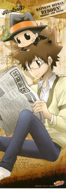Katekyo Hitman Reborn!, Leon (Katekyo Hitman Reborn!), Reborn (Character), Tsunayoshi Sawada, Stick Poster