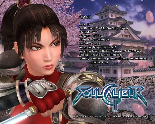 Namco, Soul Calibur, Taki, Official Wallpaper