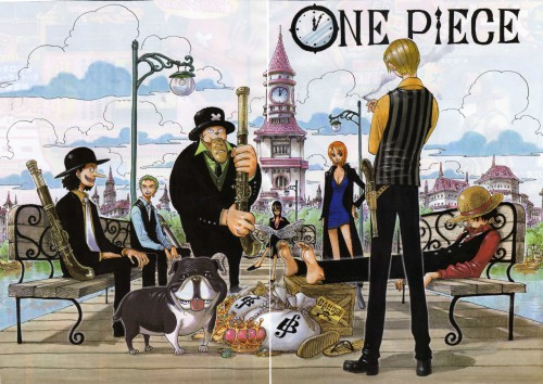 Eiichiro Oda, One Piece, Color Walk 3 - Lion, Nico Robin, Monkey D. Luffy