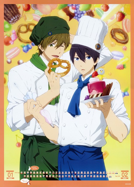 Kyoto Animation, Free!, Free! -Eternal Summer- Calendar 2015, Makoto Tachibana, Haruka Nanase (Free!)