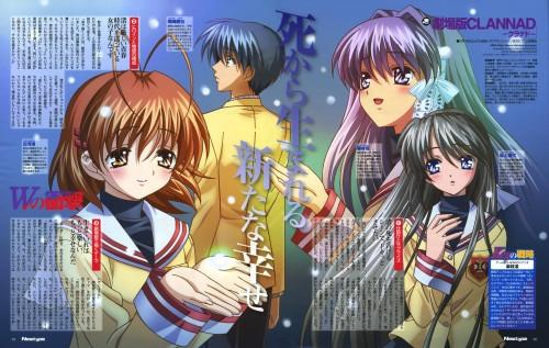 Megumi Kadonosono, Clannad, Tomoya Okazaki, Tomoyo Sakagami, Kyou Fujibayashi