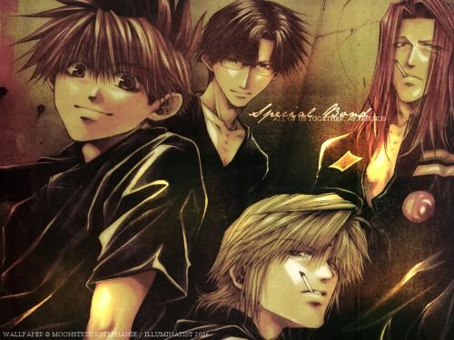 Kazuya Minekura, Studio Pierrot, Saiyuki, Son Goku (Saiyuki), Genjyo Sanzo Wallpaper