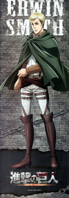 Production I.G, Shingeki no Kyojin, Erwin Smith, Stick Poster
