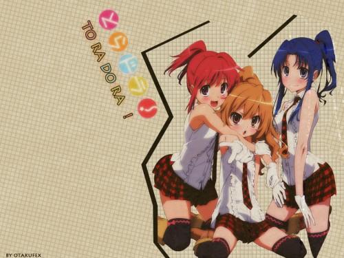 Yasu, J.C. Staff, Toradora!, Taiga Aisaka, Minori Kushieda Wallpaper