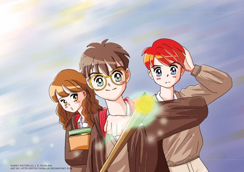 Harry Potter, Harry Potter (Character), Ron Weasley, Hermione Granger, Doujinshi
