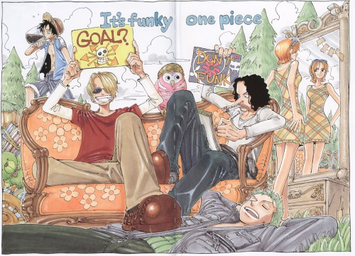 Eiichiro Oda, One Piece, Color Walk 2, Nami, Usopp