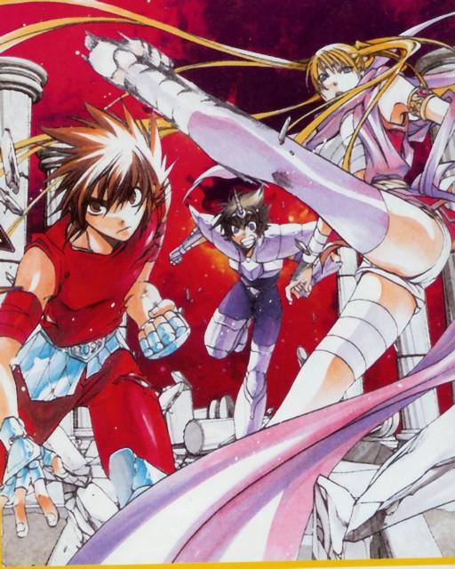 Shiori Teshirogi, Saint Seiya: The Lost Canvas, Unicorn Yato, Crane Yuzuriha, Pegasus Tenma
