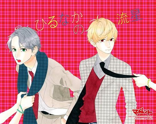 Mika Yamamori, Hirunaka no Ryuusei, Daiki Mamura, Satsuki Shishio, Official Wallpaper