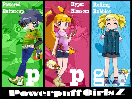 Toei Animation, Powerpuff Girls Z, Rolling Bubbles , Powered Buttercup, Hyper Blossom Wallpaper