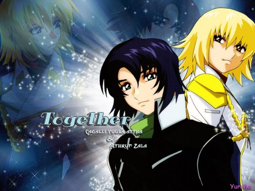 Sunrise (Studio), Mobile Suit Gundam SEED Destiny, Athrun Zala, Stellar Loussier Wallpaper