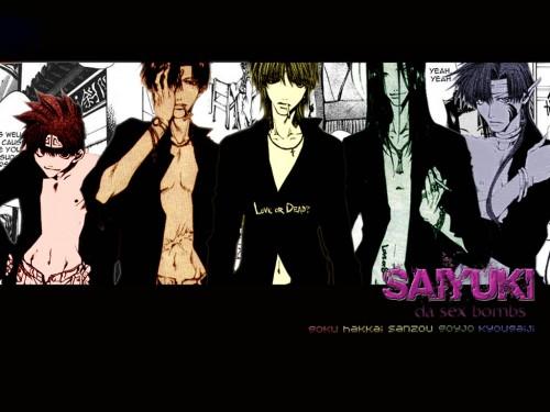 Kazuya Minekura, Studio Pierrot, Saiyuki, Sha Gojyo, Son Goku (Saiyuki) Wallpaper