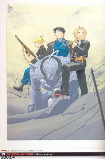 Hiromu Arakawa, Fullmetal Alchemist, Fullmetal Alchemist Artbook Vol. 1, Riza Hawkeye, Roy Mustang