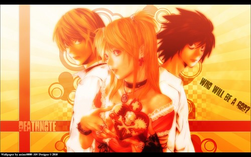 Takeshi Obata, Death Note, L, Light Yagami, Misa Amane Wallpaper