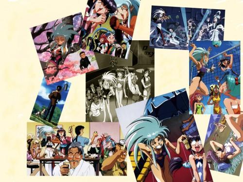 Tenchi Muyo, Ryo-ohki, Tenchi Masaki, Washu Hakubi, Tsunami Wallpaper