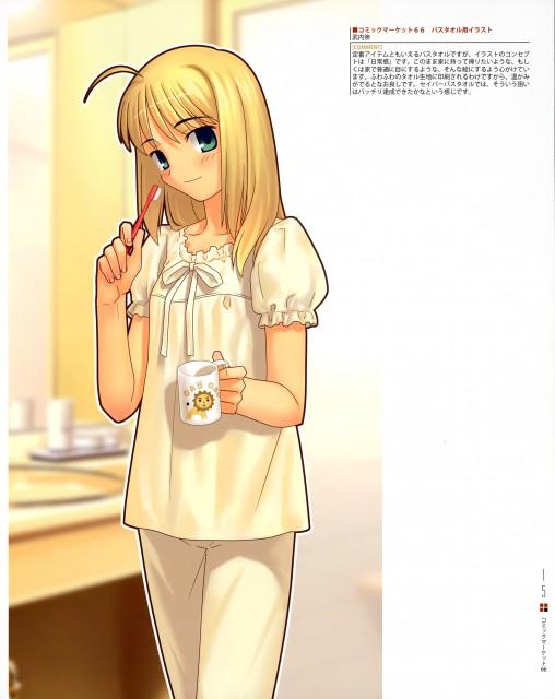 TYPE-MOON, Type-MOON Comic Illust Book, Fate/stay night, Saber