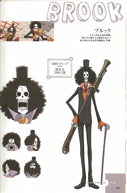 Eiichiro Oda, Toei Animation, One Piece, Brook, Character Sheet