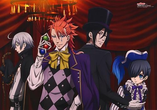 A-1 Pictures, Kuroshitsuji, Sebastian Michaelis, Joker, Snake (Kuroshitsuji)