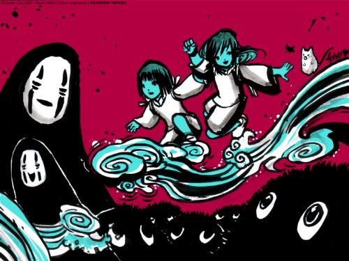 Studio Ghibli, Spirited Away, Haku (Spirited Away), Kaonashi, Chihiro Ogino Wallpaper