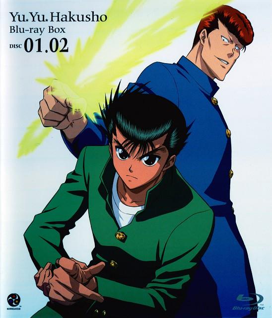 Studio Pierrot, Yuu Yuu Hakusho, Yusuke Urameshi, Kazuma Kuwabara, DVD Cover