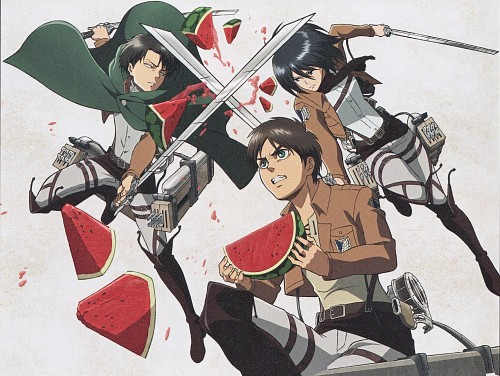 Production I.G, Shingeki no Kyojin, Levi Ackerman, Mikasa Ackerman, Eren Yeager