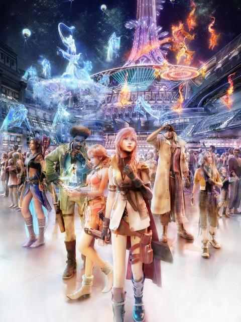 Square Enix, Final Fantasy XIII, Snow Villiers, Sazh Katzroy, Lightning (FF XIII)