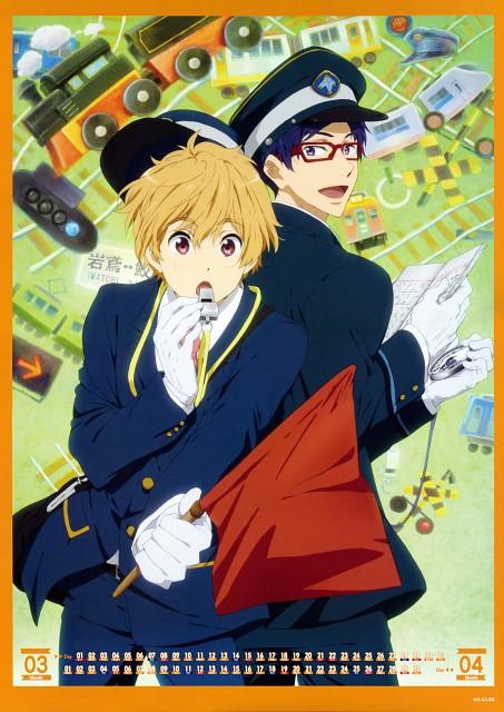 Kyoto Animation, Free!, Free! -Eternal Summer- Calendar 2015, Rei Ryuugazaki, Nagisa Hazuki