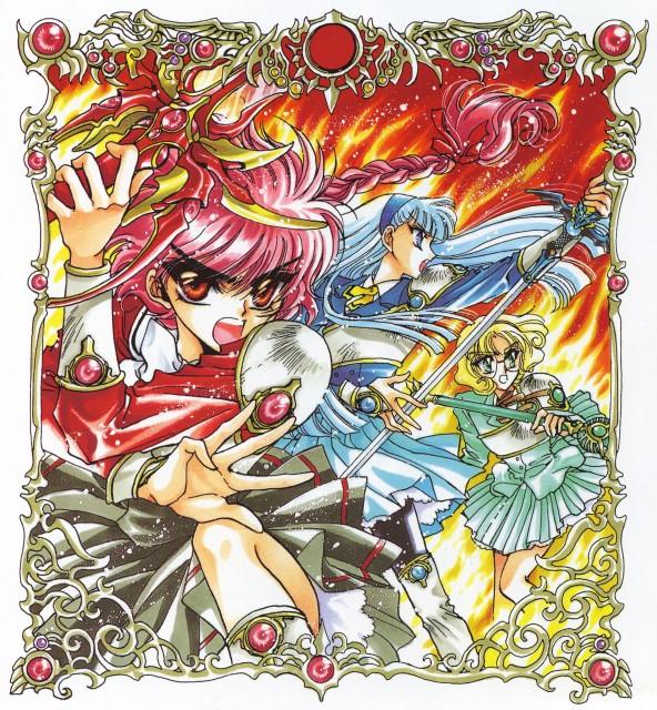CLAMP, Magic Knight Rayearth, Magic Knight Rayearth Illustrations Collection, Umi Ryuuzaki, Fuu Hououji