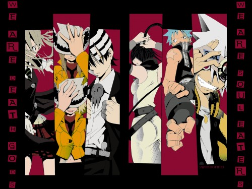 Soul Eater, Black Star, Death The Kid, Tsubaki Nakatsukasa, Patty Thompson Wallpaper