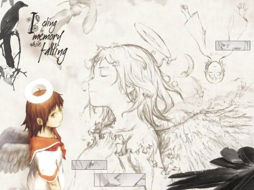 Yoshitoshi Abe, Radix, Haibane Renmei, Rakka Wallpaper