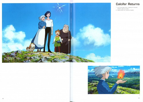 Studio Ghibli, Howl's Moving Castle, The Art of Howl's Moving Castle, Calcifer, Howl Jenkins