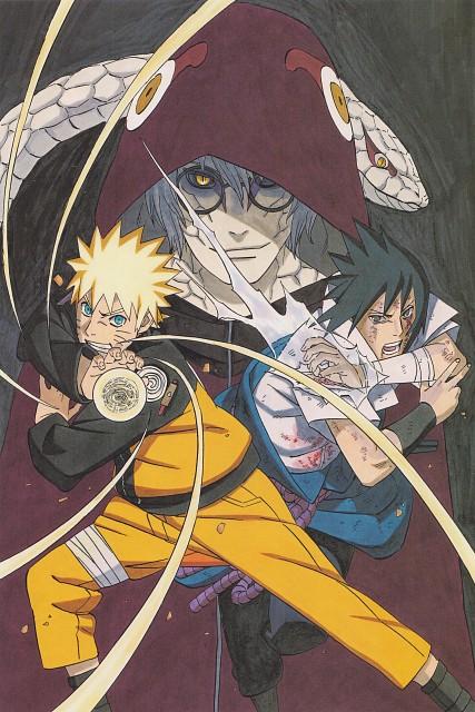 Masashi Kishimoto, Naruto, Kabuto Yakushi, Sasuke Uchiha, Naruto Uzumaki